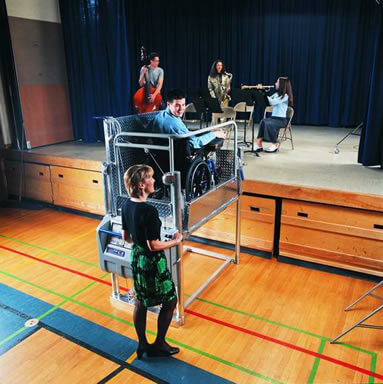Wheelchair Lifts for School or Play Stages